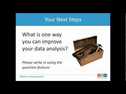 WEBINAR:  Basic Data Analysis
