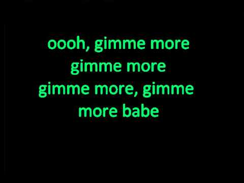 Gimme More - lyrics on screen - Britney Spears