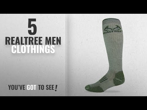 Top 10 Realtree Men Clothings [ Winter 2018 ]: Realtree Outfitters Men's Merino Tall Boot Socks