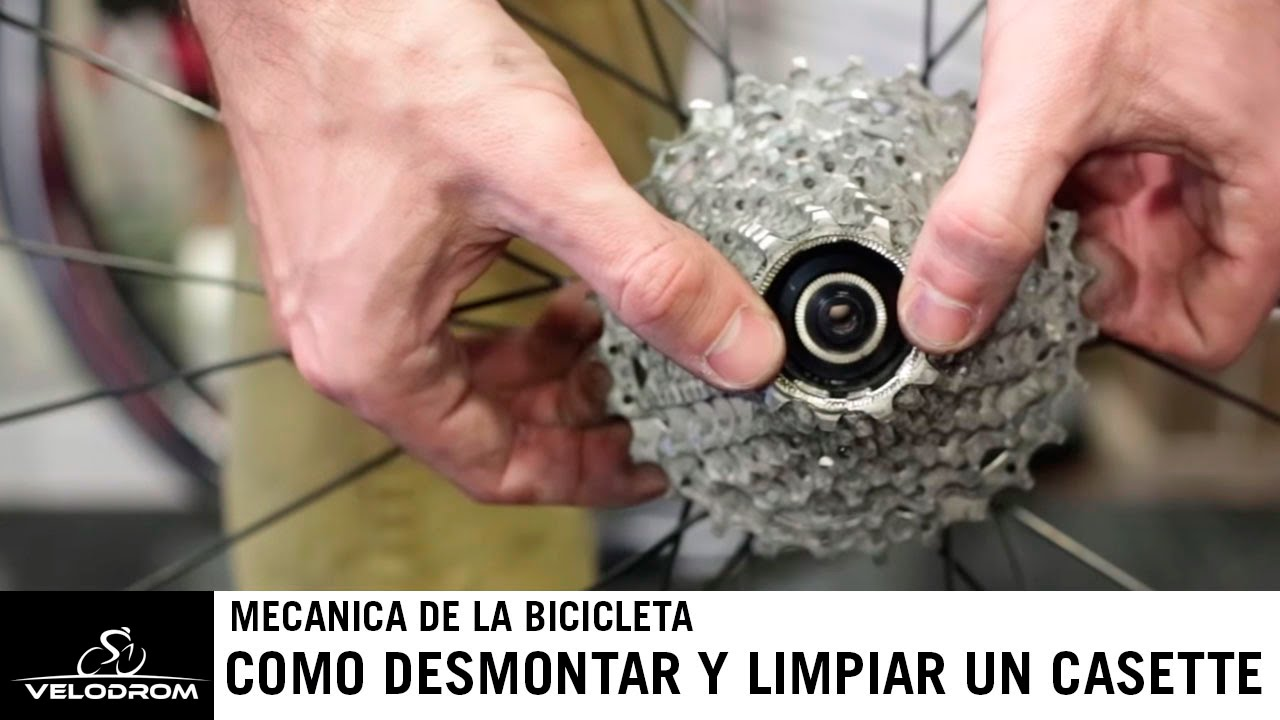 Como desmontar y limpiar el casette de tu bicicleta - YouTube