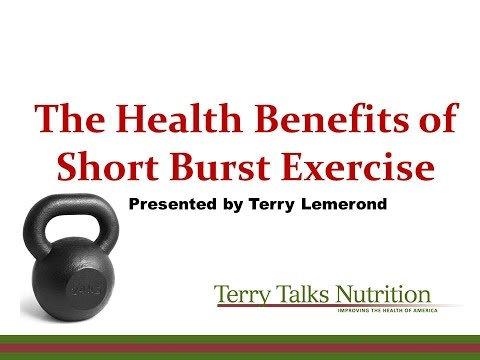 Skip the Marathon - Short Burst Exercise is Best! Presented by Terry Lemerond 2-15-2016