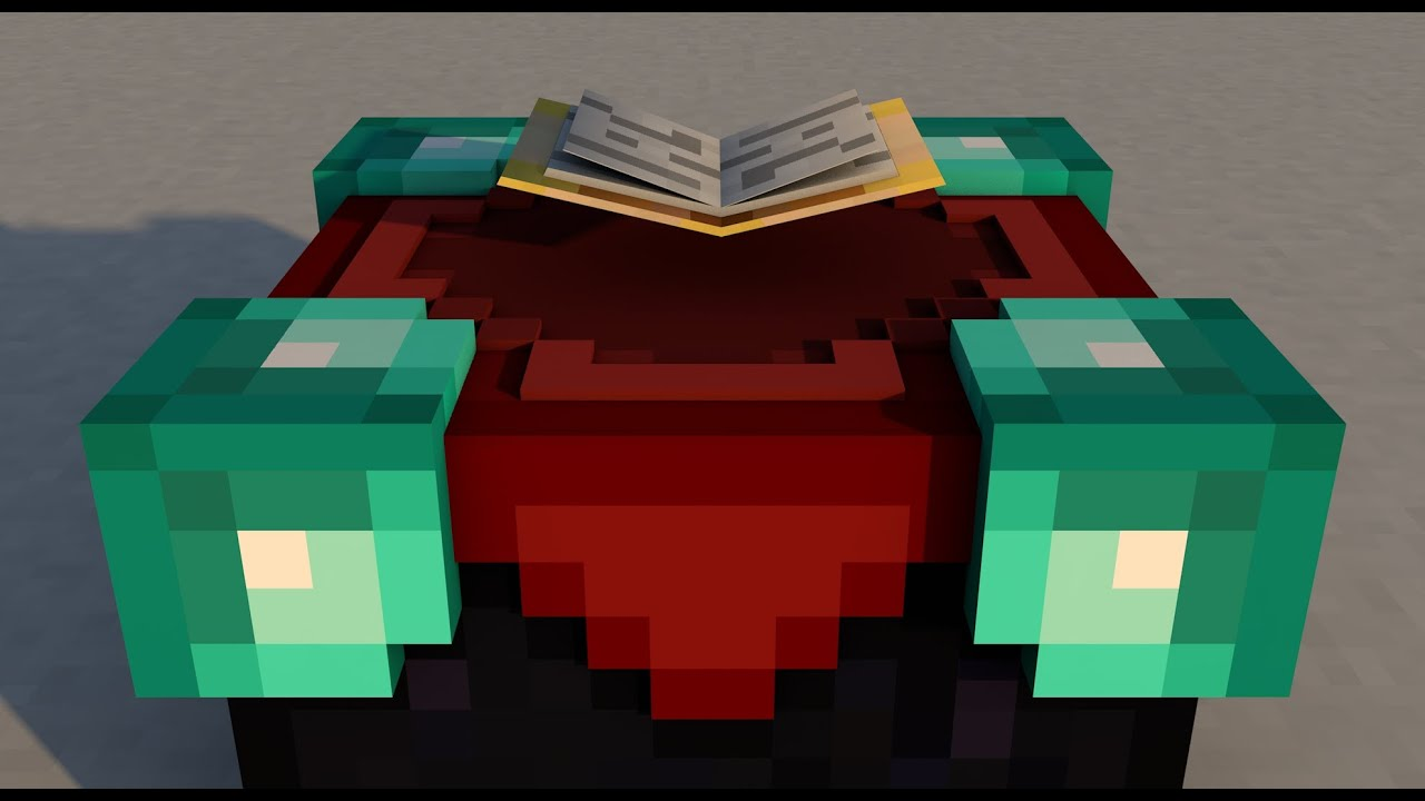 Free Cinema 4d Minecraft Enchanting Table Rig