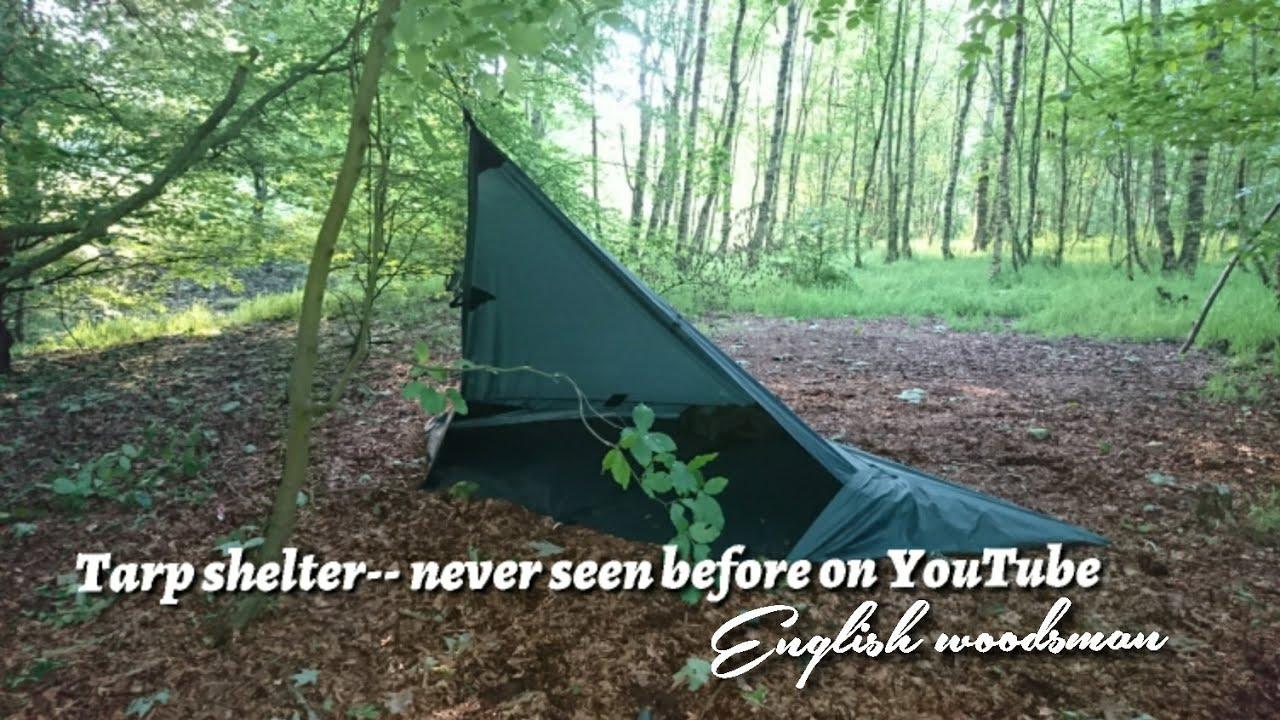 cb6dd1e9de4 NEW!!!!! tarp shelter setup using a 3X3 DD hammocks tarp - YouTube