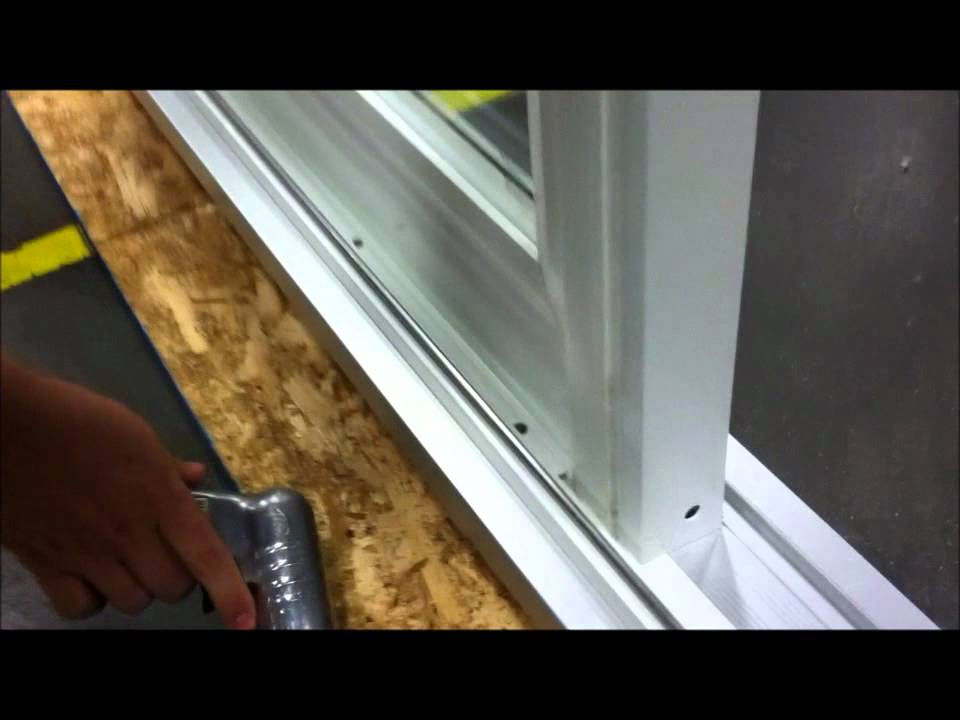 Paradigm Windows Removing Stationary Panel On Patio Door   YouTube
