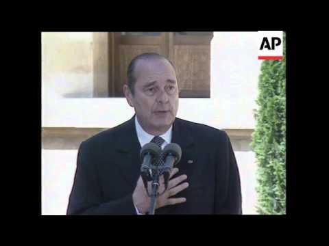 LEBANON: BEIRUT: FRENCH PRESIDENT JACQUES CHIRAC VISIT