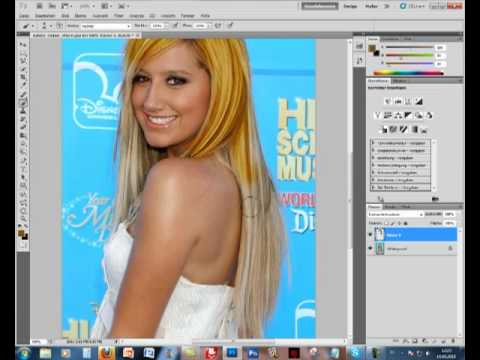 Haare schwarz farben photoshop