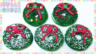 Wreath Macarons, Wreath Cookies - Sugarcoder