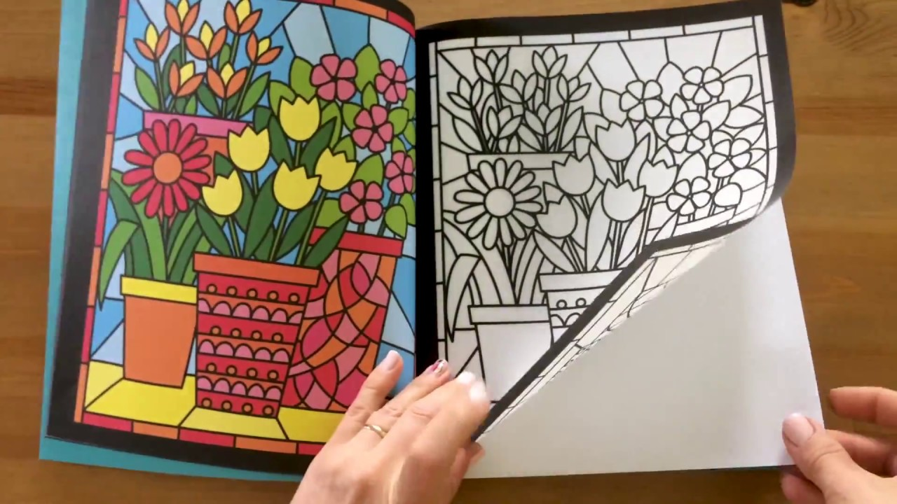 stained glass colouring usborne
