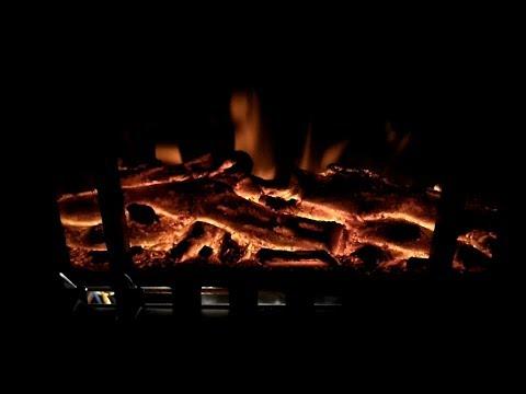 DEUBA Elektro-Kamin mit Heizung und Kaminfeuer-Effekt 1000W / 2000W - Flammeneffekt Ofen