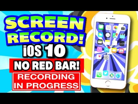 iOS 10: Get Screen Recorder for iPhone, iPad, iPod Touch FREE (NO JAILBREAK) (WITHOUT COMPUTER)