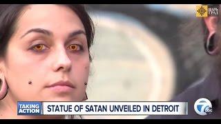 Торжество зла: в Детройте открыт памятник сатане
