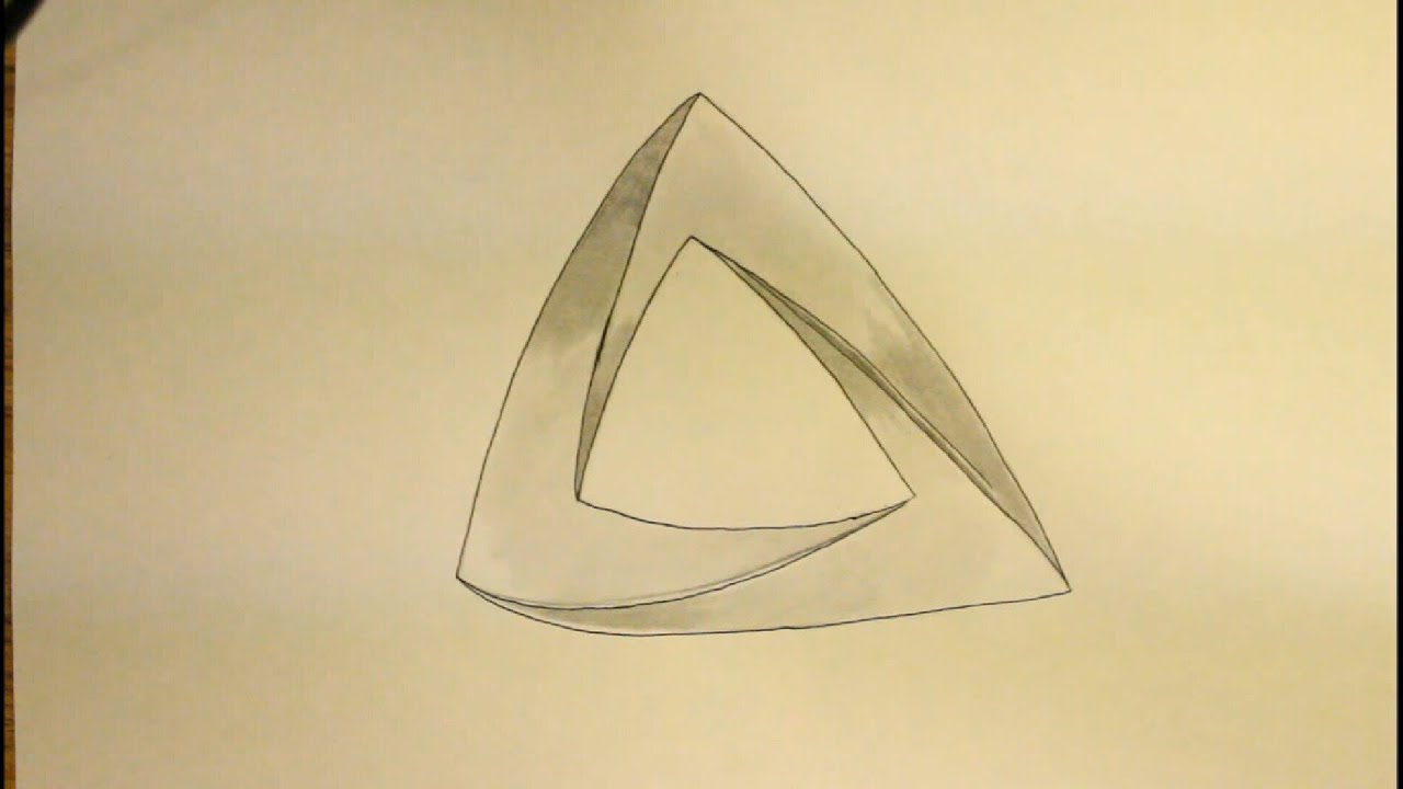 how to draw impossible triangle easy easy things to draw