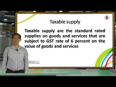 LU2: Taxable Supply and Taxable Person (Introduction)
