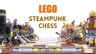 LEGO - Steampunk Chess - 15,000 Subs Special - Stop Motion Build
