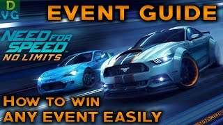 NFS No Limits | EVENT GUIDE #1 - How to win any event EASILY ! (0 Gold) (TUTORIAL)