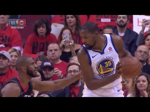 Kevin Durant Exposes Chris Paul's Overrated Defense - 2018 NBA WCF
