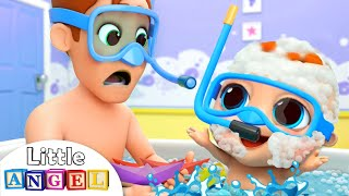 Gambar cover Bath Time with Dad | Nursery Rhymes and Kids Songs by Little Angel