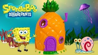 SpongeBob SquarePants Pineapple House Playset SpongeBob House Bob Esponja Губка Боб Toy Videos