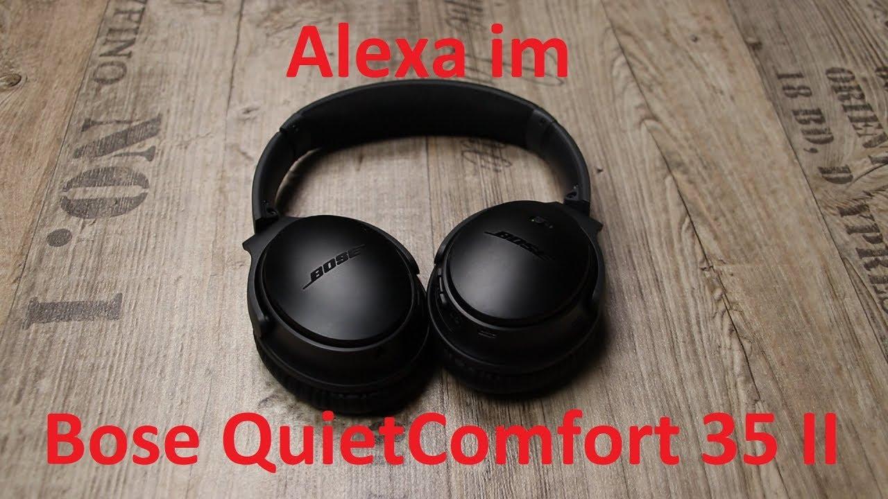 was kann alexa im bose quietcomfort 35 ii youtube. Black Bedroom Furniture Sets. Home Design Ideas