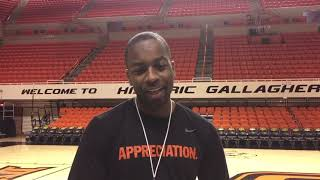 OSU Basketball - Mike Boynton previews Baylor game