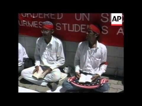 THAILAND: BANGKOK: STUDENTS FROM MYANMAR STAGE PROTEST