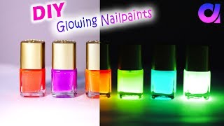 How to make Glow In The Dark Nail Polish at home! DIY | Artkala 272