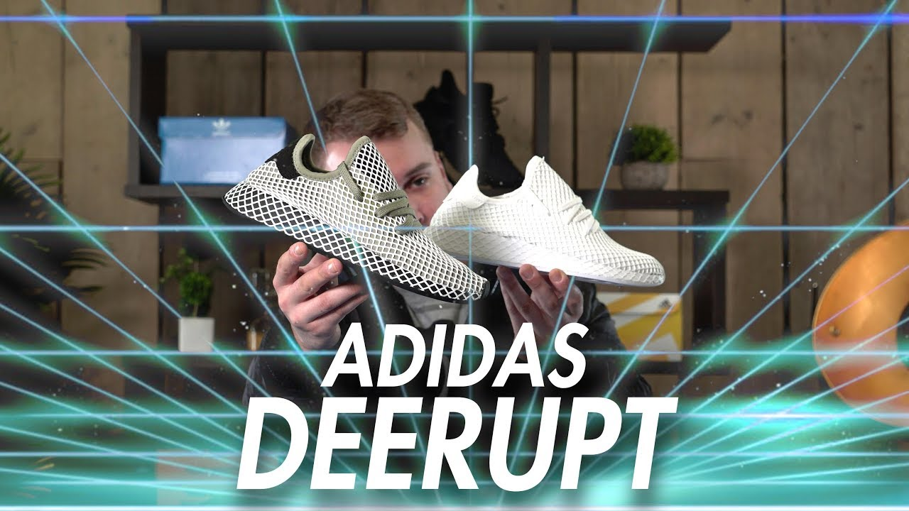 best service 6dc96 ad349 adidas DEERUPT  Unboxing, Review  On Foot  Triple White  Olive  Colourways