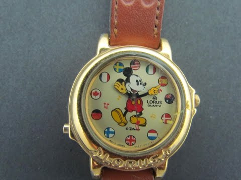 Vintage 1990 Musical Mickey Mouse Watch Lorus by Seiko It's A Small World