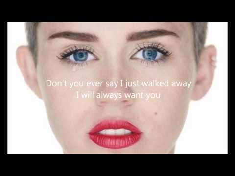 Miley Cyrus - Wrecking Ball letra en ingles
