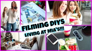 FILMING DIYs + LIVING AT MIA'S!!!! Vlogmas Day 14!! Thumbnail