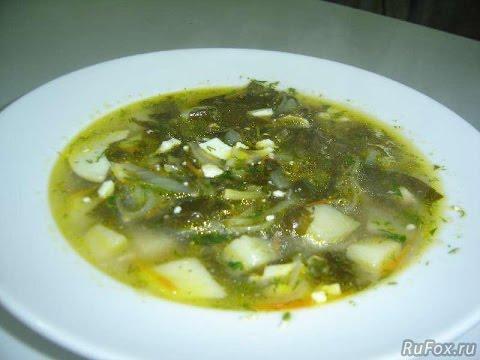 Суп на курином бульоне простой