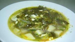 Простой рецепт . Суп зелёный из щавеля и крапивы .#суфикс