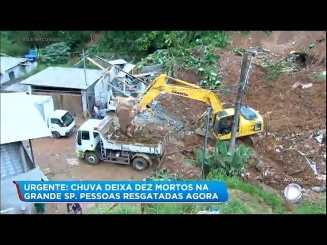 Desabamento deixa 4 mortos e pessoas feridas em Ribeirão Pires (SP)