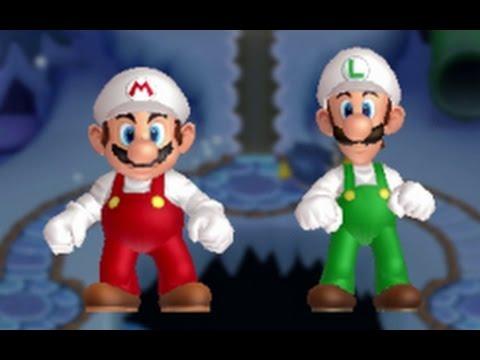New Super Mario Bros. U Co-op Walkthrough - World 4 - Frosted Glacier (All Star Coins)