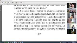 43 | La Sotesana Instruo de Ŭonbulismo | 에스페란토 원불교 대종경 공부 (zoom)