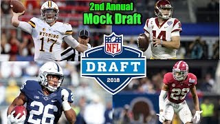 2018 NFL Mock Draft With Team Time Stamps!!! Eagles Are Locked And Loaded!!!