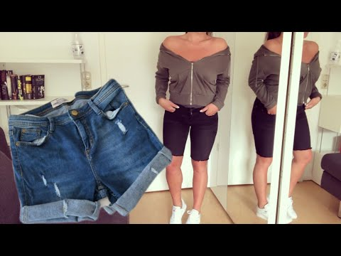 DIY Jeans Shorts Deutsch - Diy Hotpants Selber Machen ...