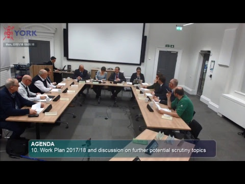 Customer and Corporate Services Scrutiny Management Committee, 22 January 2018
