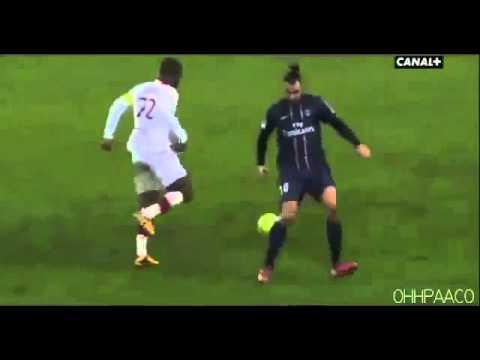 Aurelien Chedjou humiliated Zlatan Ibrahimovic - PSG vs Lille 1-0