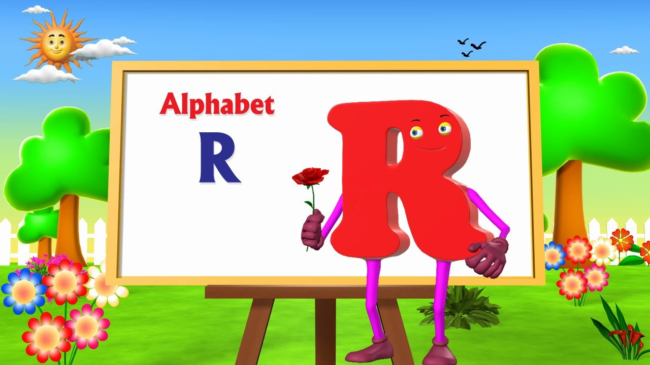 T Letter Wallpaper 3d Letter R Song 3d Animation Learning English Alphabet Abc