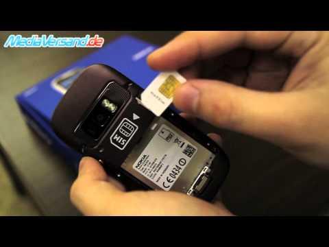 Nokia C7 SIM Karte und Akku einsetzen Handy Telefon Mobile