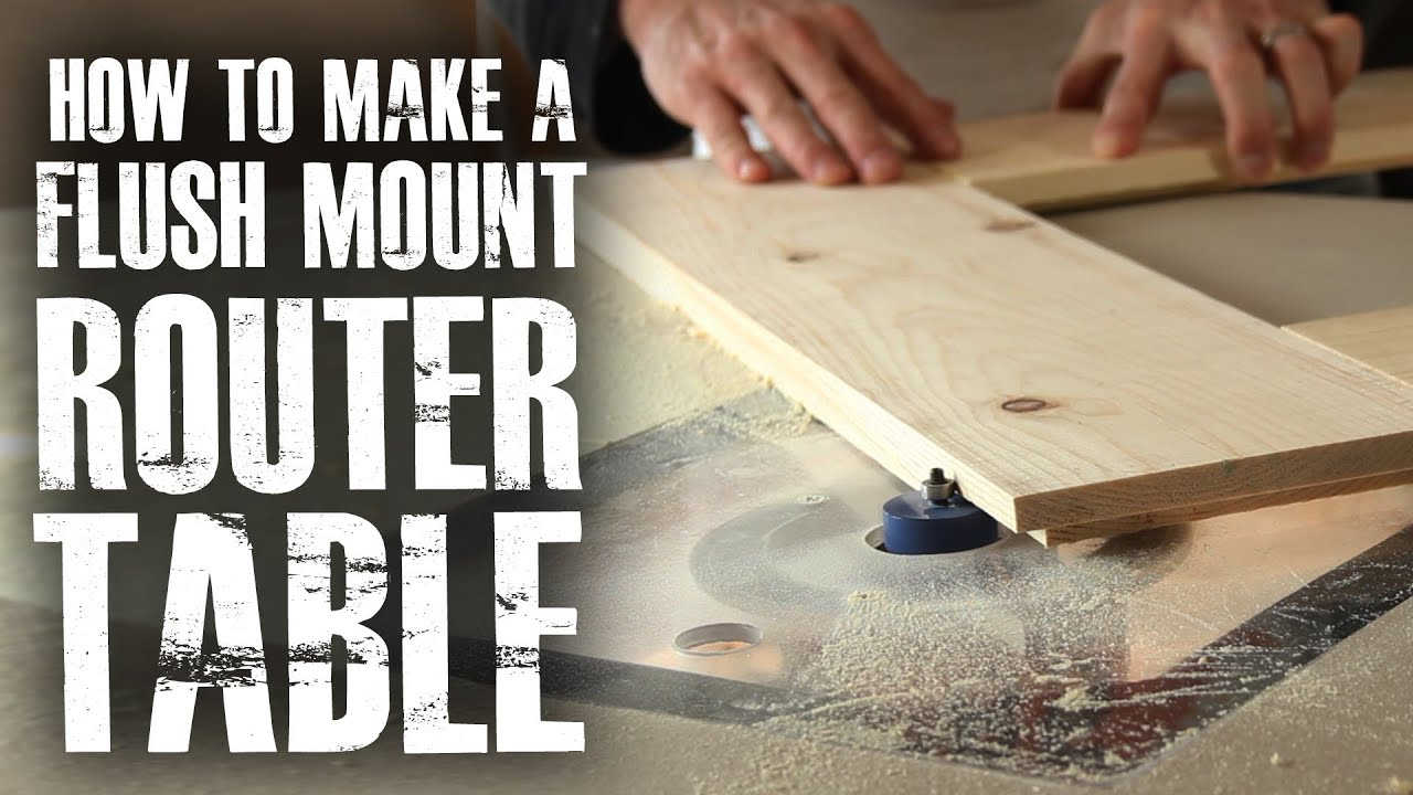 Make a flush mount router station youtube make a flush mount router greentooth