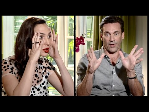 Jon Hamm and Gal Gadot on playing iconic figures and dealing with dark side of fame and social media