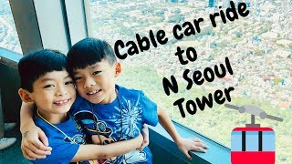 #17: Twins riding a cable car to visit #NSeoulTower