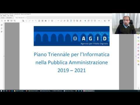 Piano Triennale AGID 2019-2021 - commento e approfondimento (17 marzo 2019)