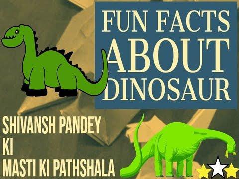 Fun facts about Dinosaur/How to make Paper Dinosaur/Origami Dinosaur/Masti ki pathshala/DIY Paper