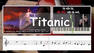 Titanic My heart will go on Karaoke e instrumental para flauta Educação Musical José Galvão