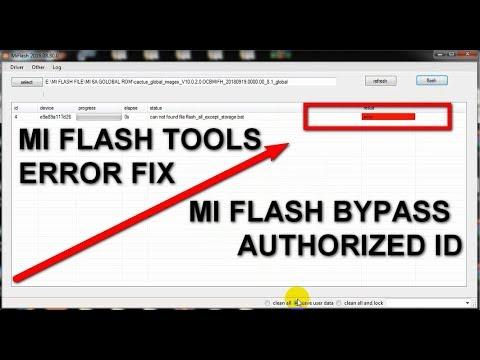 Mi Flashtool Error Solution [] Mi Flashing without Mi Authorized id password [] Fix All Type Problem