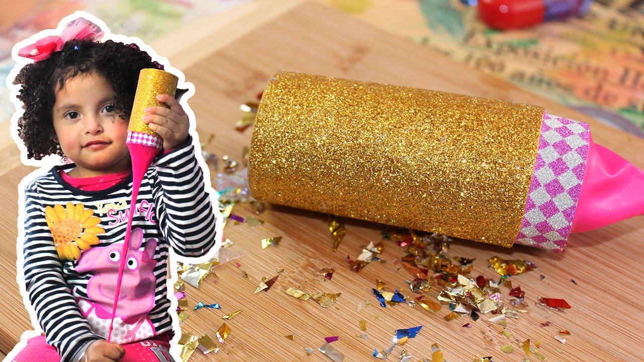 Como hacer un ca on de confetti para fiesta youtube for Como hacer confeti