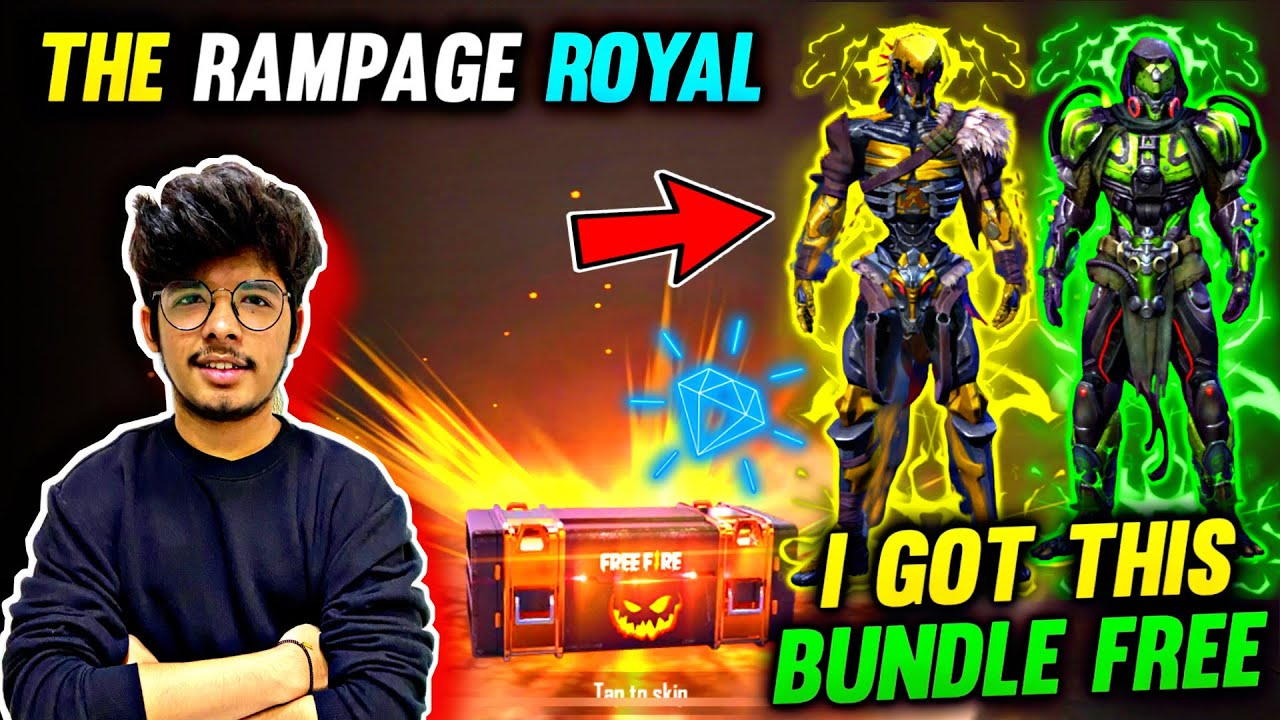 FREEFIRE || NEW RAMPAGE ROYAL IN FREEFIRE || HUNGER STRIKE &VENOM TOUCH  BUNDLE || TSG LIVE REACTION